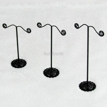 3pcs/lot Blk Earring Jewelry Tree Display Stand Holder Rack Set ES0192