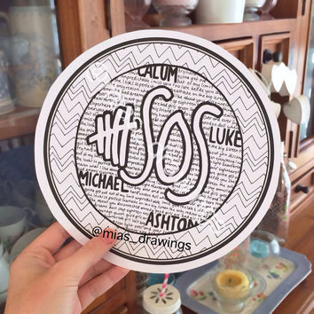 5sos song titles logo drawing