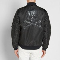 Bomber Jacket Coat Skull Embroider Men Jackets