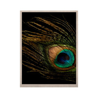 "Alison Coxon ""Peacock Black"" KESS Naturals Canvas (Frame not Included)"
