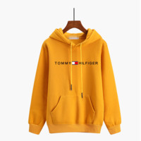 """Tommy Jeans"" Women Sport Casual Small Letter Print Thickened Long Sleeve Hooded Sweater Sweatshirt Tops"