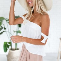 White Sands Off The Shoulder Top - Luca + Grae