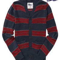 Aeropostale  Mens Locker Stock Textured Stripe Cardigan