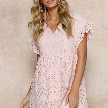 Georgie Dress PEACH