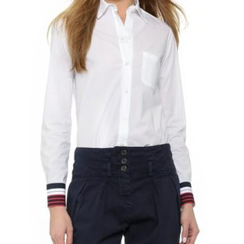Otto d'ame Cinque Button Down with Cuff Detail