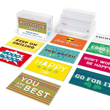 Fun Messages & Motivation Cards 80 Paper Cards in Box