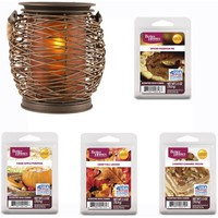 Better Homes and Gardens Woven Lantern Full-Size Wax Warmer and Wax Gift Set - Walmart.com