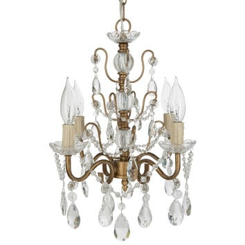 Madeleine Shabby Chic Crystal Plug-In Chandelier | 4 Lights | Gold