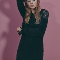 CLAUDINE LACE MINI DRESS