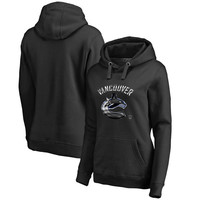 Vancouver Canucks Fanatics Branded Women's Midnight Mascot Pullover Hoodie - Black
