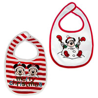 Mickey and Minnie Mouse Bib Set for Baby - Holiday
