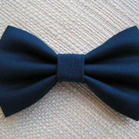 Navy BLUE-Hair bow, Hair bows for girls, cute hair bows out of cotton fabric, bows for weddings