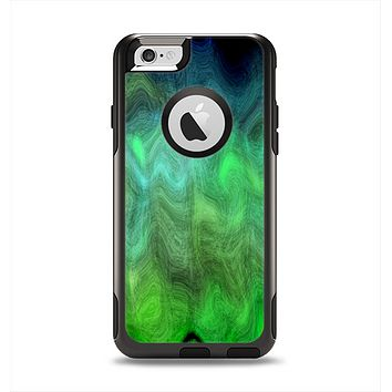 The Vivid Green Sagging Painted Surface Apple iPhone 6 Otterbox Commuter Case Skin Set