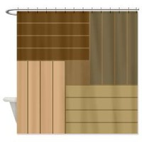 Brown Tone Line Shower Curtains> Shower Curtains> We Tees You