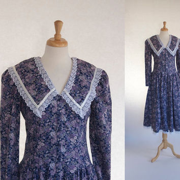 Vintage Gunne Sax Dress / 70s Dress / Vintage Peasant Dress / 70s Boho Maxi Dress / Romantic Country Dress / Jessica McClintock