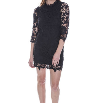 The Rachel Lace Dress - Black Ed