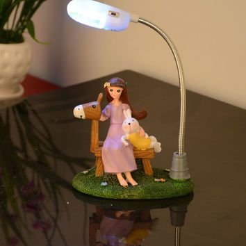 Creative Home Decoration Resin Girl Home Decor = 5893416641
