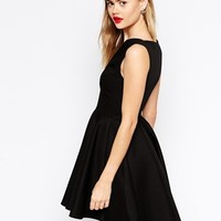 ASOS Textured Dip Back Skater Dress