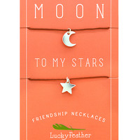 You are the Moon to My Stars - BFF Necklace for 2