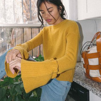 TACH CLOTHING | Monaco Knit Sweater - Mustard