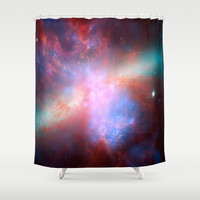 Bright nebula galaxy stars bear constellation hipster geek cool space star nebulae NASA photo Shower Curtain by iGallery | Society6
