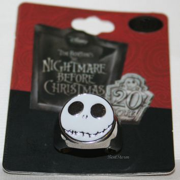 Licensed cool Disney The Nightmare Before Christmas Jack FACE Men's Costume Ring Size S 6 1/2