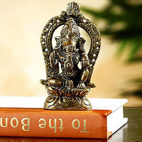 Aluminum Ganesh Statue | Decorative Accessories| Home Decor | World Market