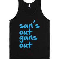 Sun's Out Guns Out-Unisex Black Tank