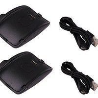 2xCharging Dock Charger Cradle For Samsung Galaxy Gear S Smart Watch SM-R750