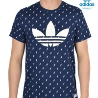 ADIDAS ORIGINALSFLASH TREFOIL T-SHIRT - NAVY