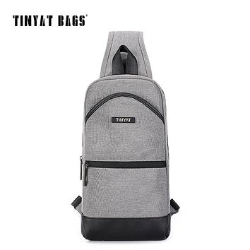 Men's Leather Crossbody Bag For Ipad Male Men Chest Bag Casual Messenger Bag Canvas Leisure Shoulder Bag