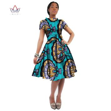 Africa Dress For Women African Wax Print Dresses Dashiki Plus Size Africa Style Clothing for Women