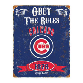 MLB Chicago Cubs Party Animal Vintage Metal Sign