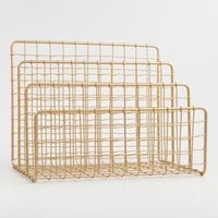 Gold Wire Antonia File Holder
