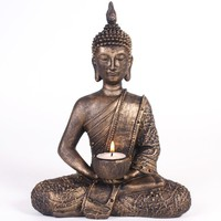 Resin Thai Buddha Tea Light Candle Holder
