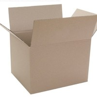 "Caremail Recycled Shipping Boxes, Binder Size, 15"" x 12"" x 10"", Brown, 12-Pack (1119264)"