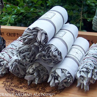 Sacred WHITE SAGE Smudge Wand  5L for by ArtisanWitchcrafts