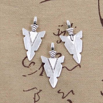 8pcs Charms indian arrowhead dagger 28*15mm Antique Making pendant fit,Vintage Tibetan Silver,DIY bracelet necklace