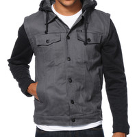 Matix Torent Charcoal Twill Vest Hoodie at Zumiez : PDP