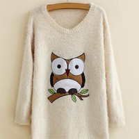 White Owl Mohair Sweater