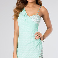 Short Sleeveless Sequin Dress With Sheer Overlay