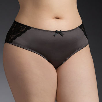 Microfiber & Lace Back Cheekster Panty