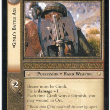 Lord Of The Rings CCG Fellowship Of The Ring Rare 1R14 Gimli's Battle Axe
