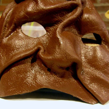 Brown Leather Mask