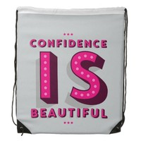 Confidence Is Beautiful Women's Drawstring Bags