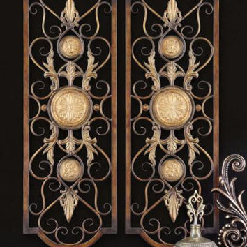 2 Wall Panels - Hand Forged Metal