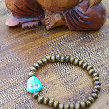 Original Collection- Blue Buddha Beaded Hand Made Bracelet