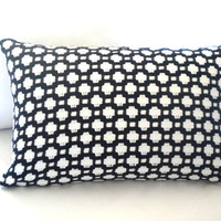 Black and white Lumbar pillow cover, white and black lumbar pillow,accent pillow,throw pillow, FABRIC BOTH SIDES
