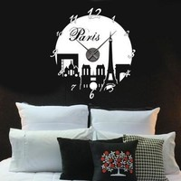 Paris Wall Decal Clock