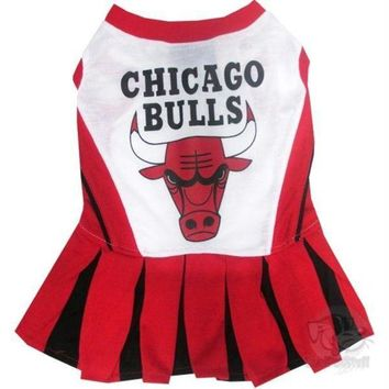 Chenier Chicago Bulls Cheerleader Pet Dress